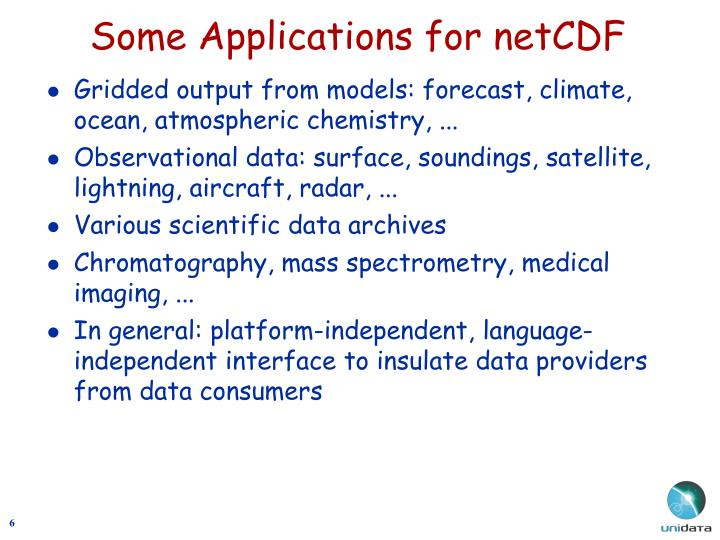 Some Applications for netCDF