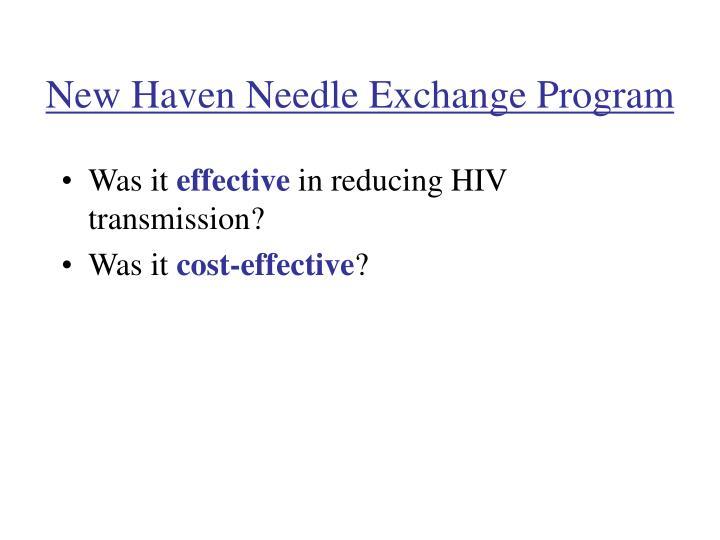 new haven needle exchange program n.