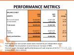 performance metrics1