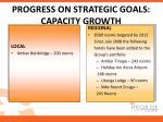 progress on strategic goals capacity growth