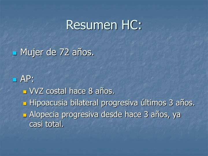 Resumen hc