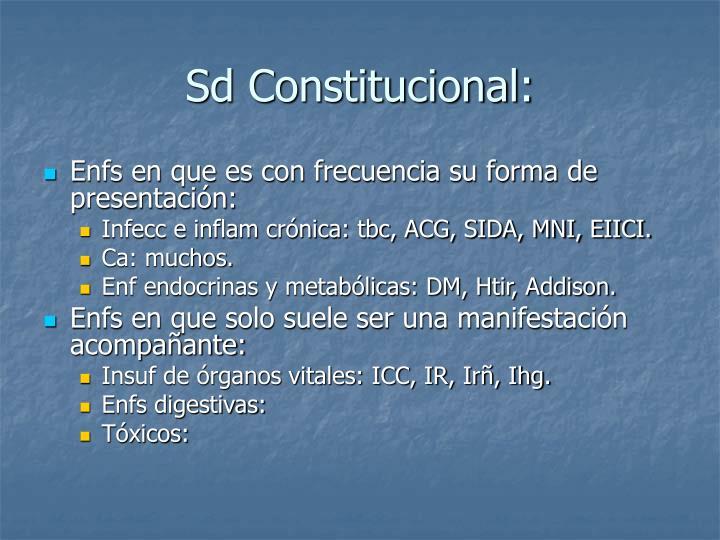 Sd Constitucional: