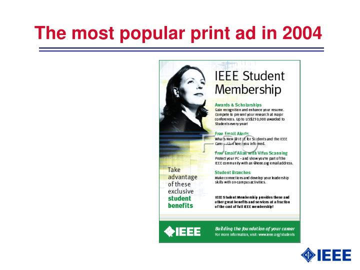 The most popular print ad in 2004