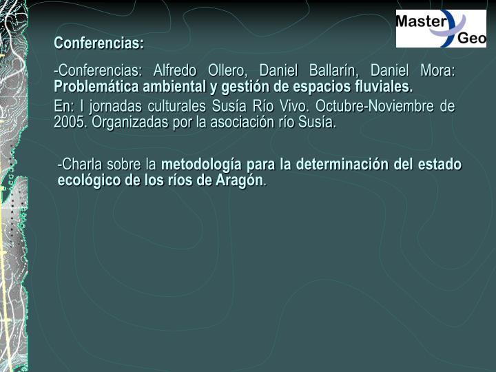 Conferencias:
