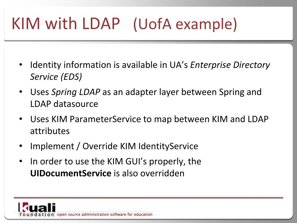 PPT - Kuali Identity Management: Introduction and
