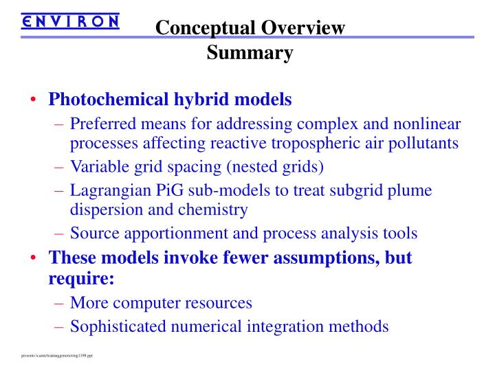 Conceptual Overview