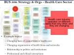bus 506 strategy orgs health care sector