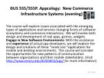 bus 555 555p appcology new commerce infrastructure systems evening