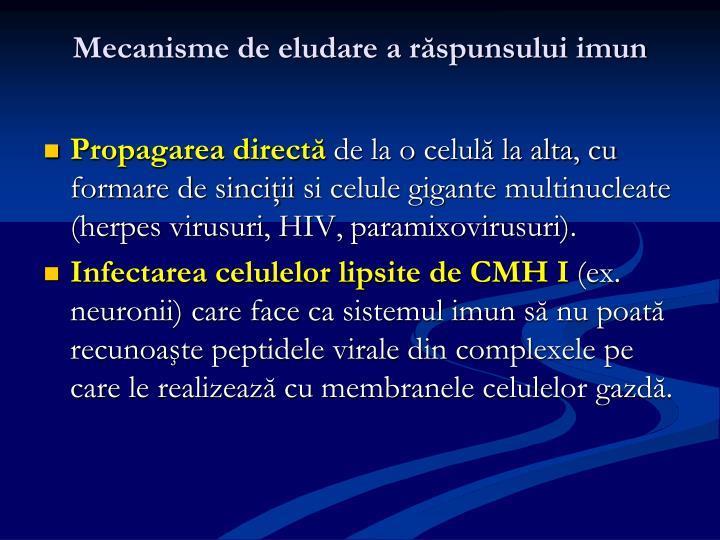 Mecanisme de eludare a răspunsului imun