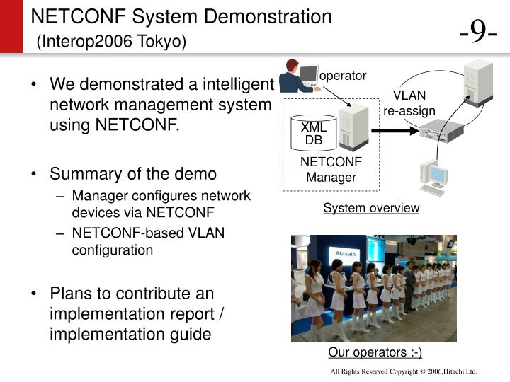 NETCONF System Demonstration