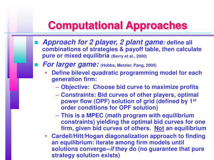 Computational Approaches
