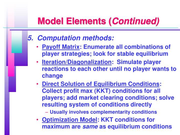 Model Elements (