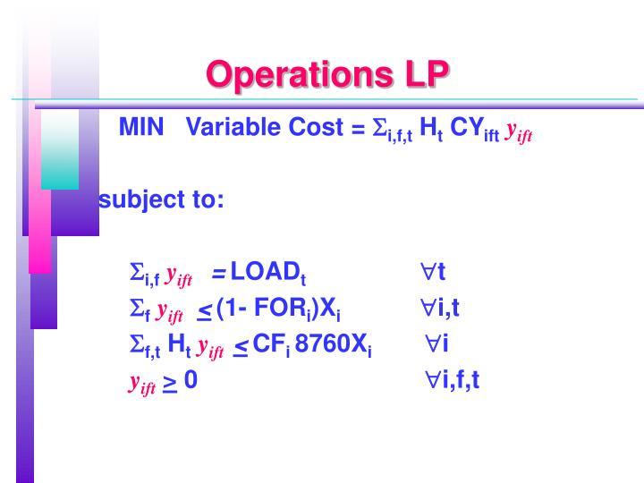 Operations LP
