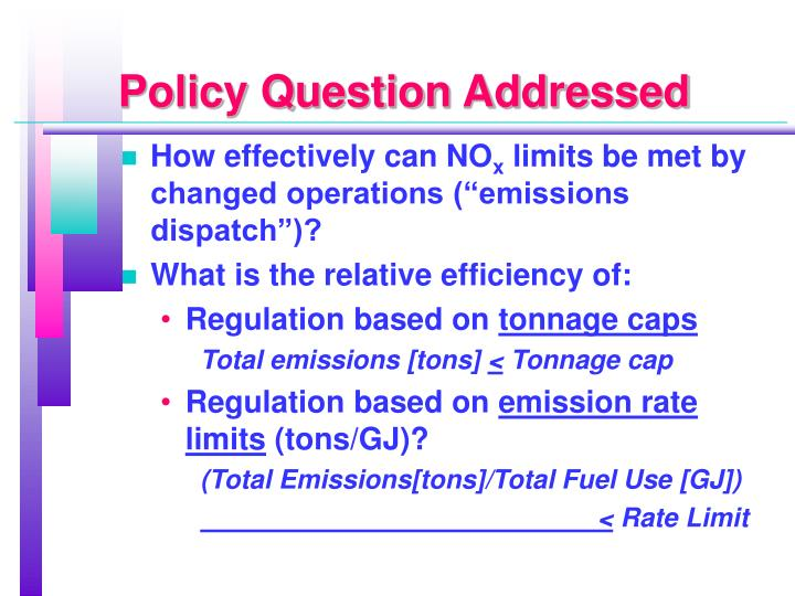 Policy Question Addressed