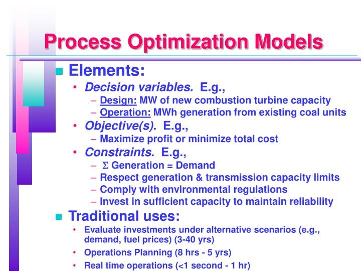 Process Optimization Models