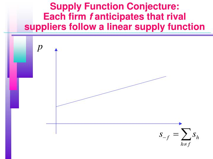 Supply Function Conjecture:
