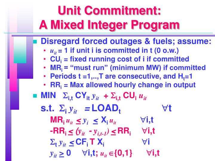 Unit Commitment: