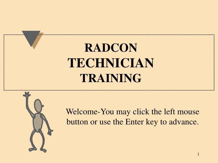 radcon technician training n.