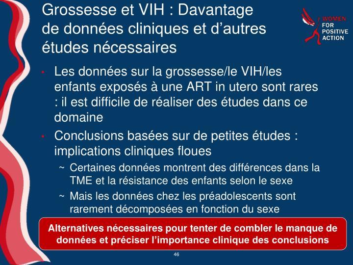 Grossesse et VIH: Davantage