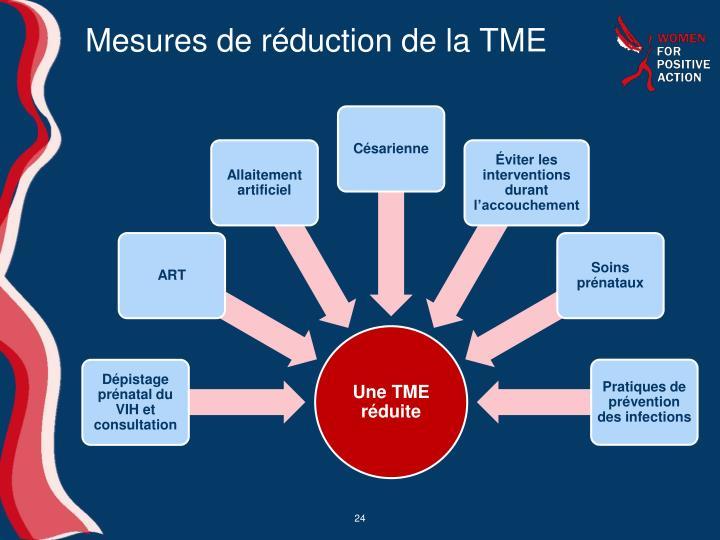 Mesures de réduction de la TME