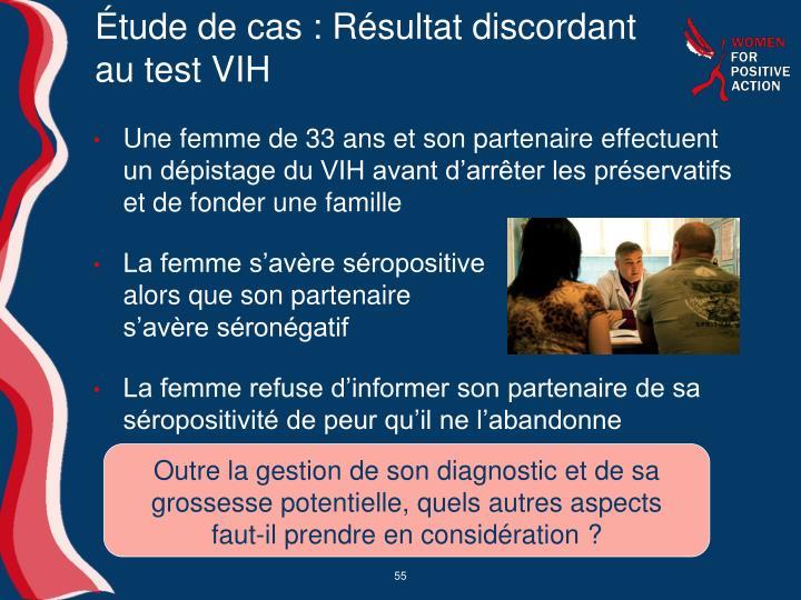Étude de cas: Résultat discordant au test VIH
