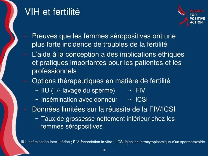 VIH et fertilité