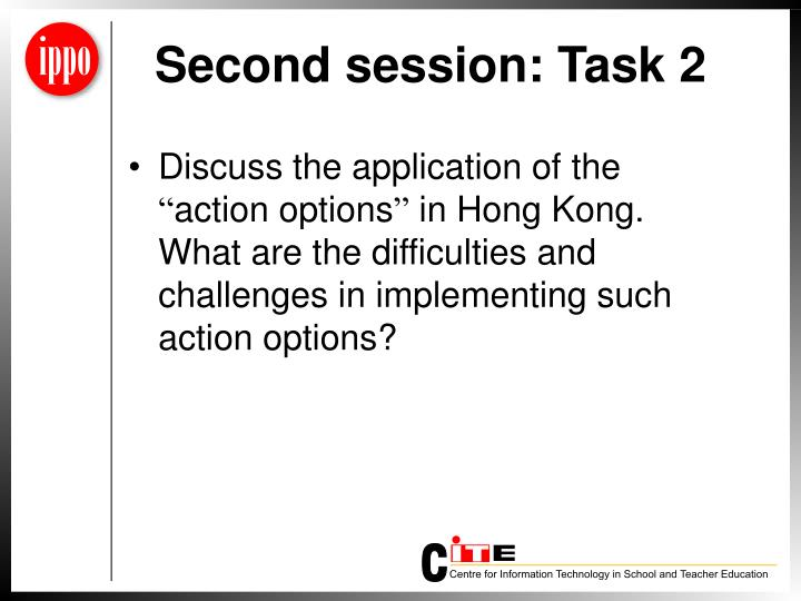 Second session: Task 2