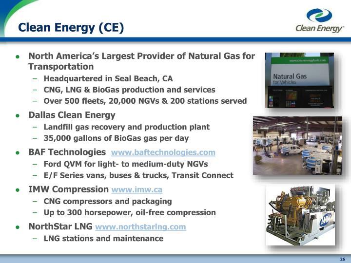 Clean Energy (CE)
