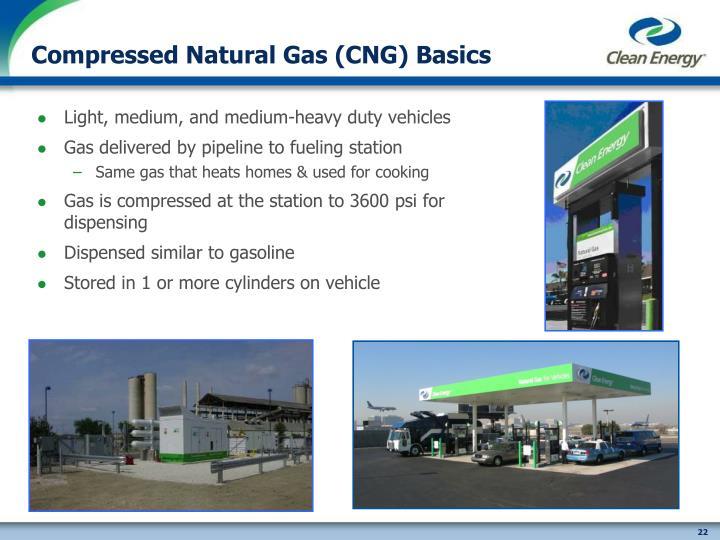 Compressed Natural Gas (CNG) Basics