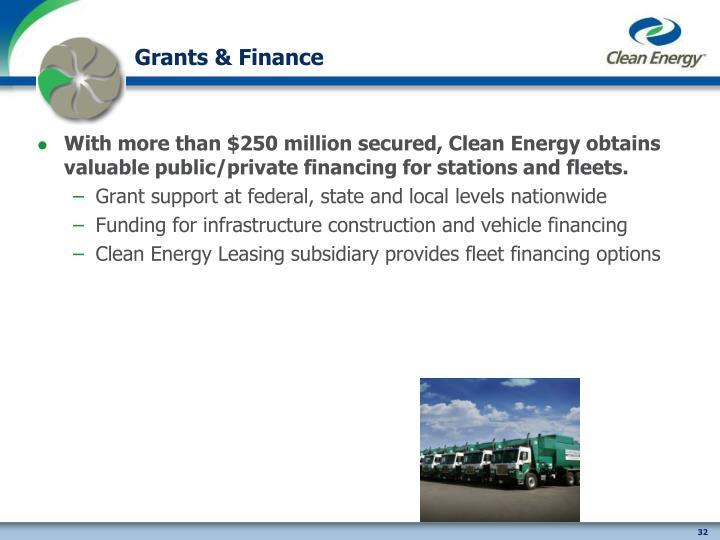 Grants & Finance