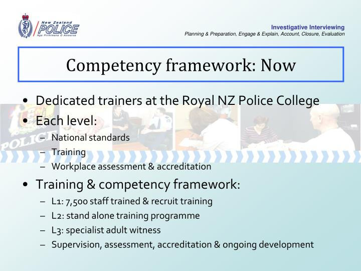 Competency framework: Now