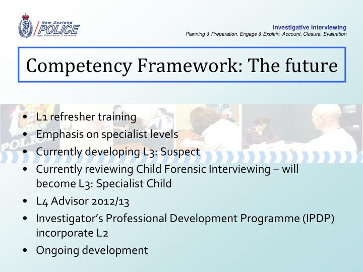 Competency Framework: The future