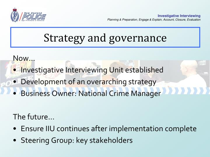 Strategy and governance