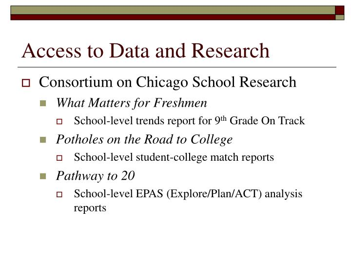 Access to Data and Research