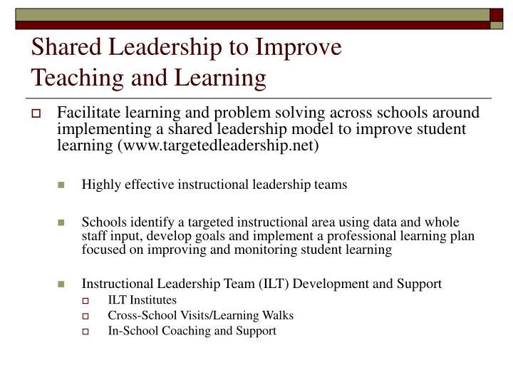 Shared Leadership to Improve
