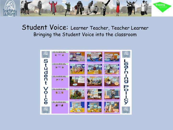 student voice learner teacher teacher learner bringing the student voice into the classroom n.