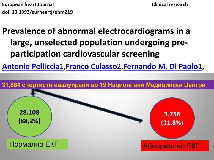 European heart JournalClinical research