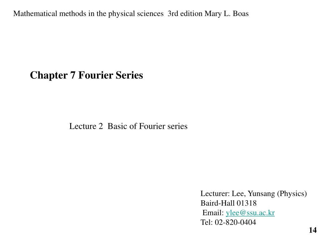 PPT - Chapter 7 Fourier Series (Fourier 급수 ) PowerPoint