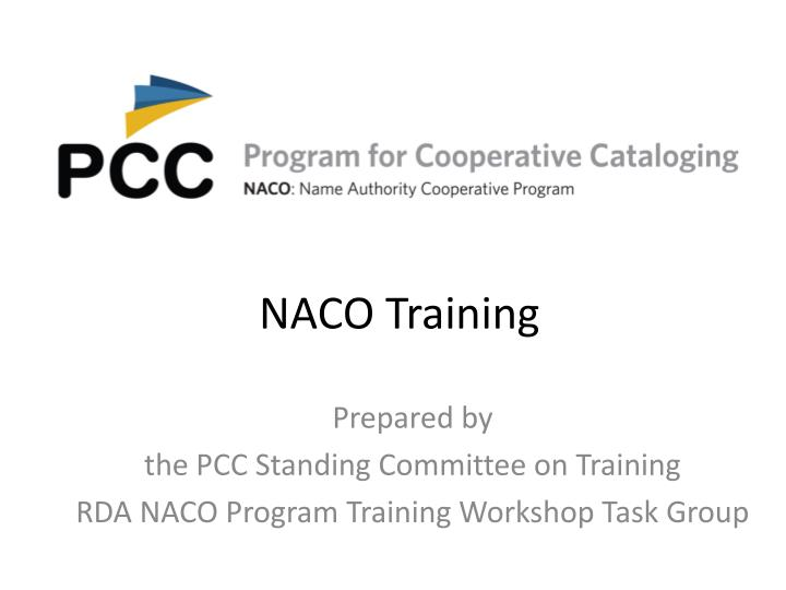 naco training n.