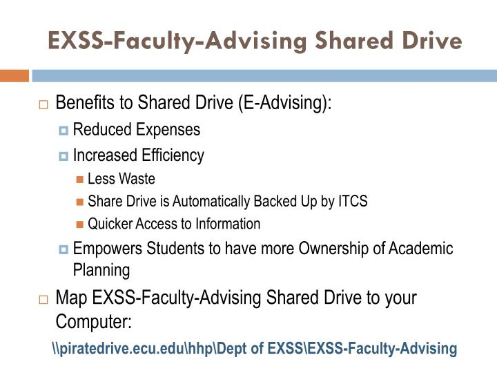EXSS-Faculty-Advising Shared Drive