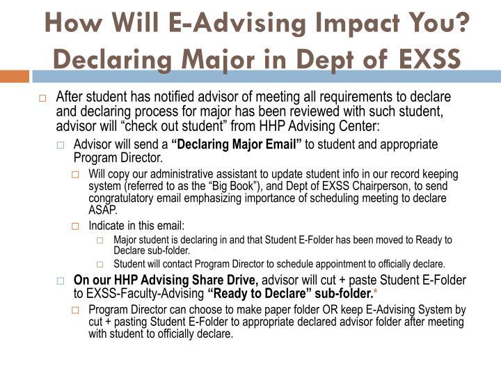How Will E-Advising Impact You?