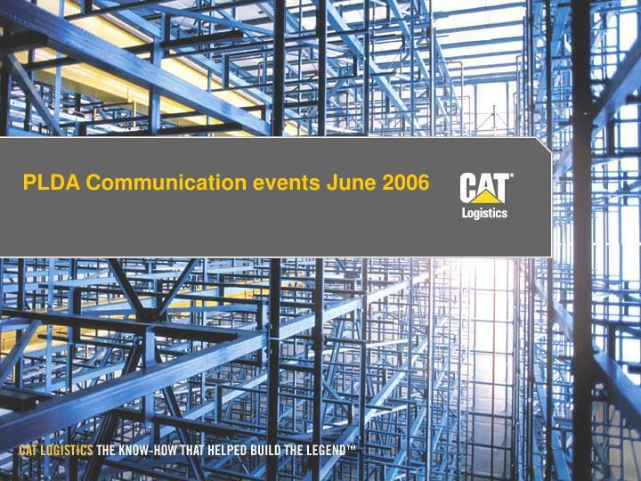 plda communication events june 2006 n.