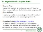 11 regions in the complex plane1