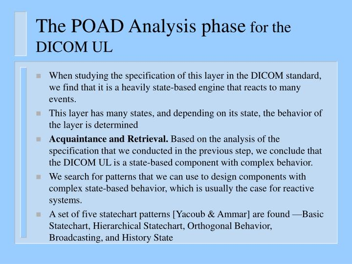 The POAD Analysis phase