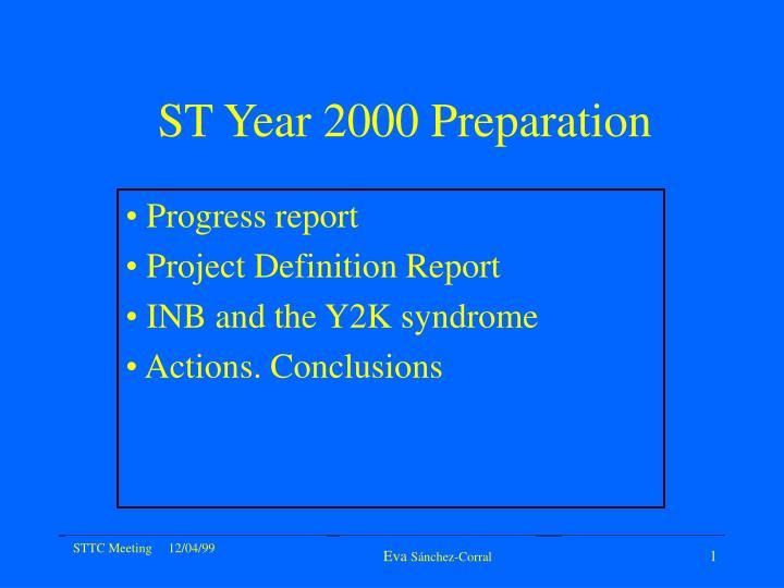 st year 2000 preparation n.
