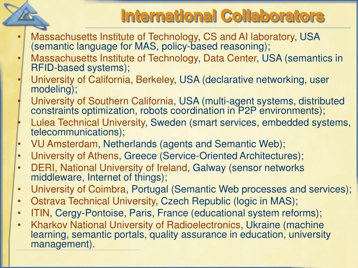 International Collaborators