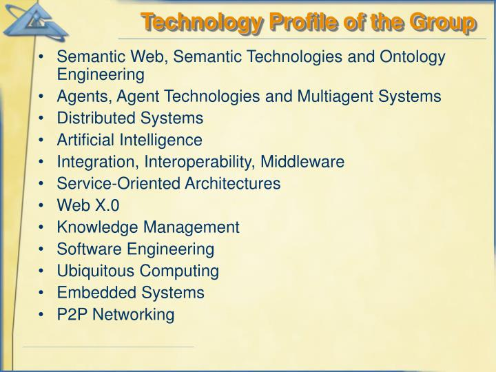 Technology Profile of the Group