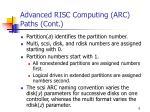 advanced risc computing arc paths cont
