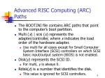 advanced risc computing arc paths