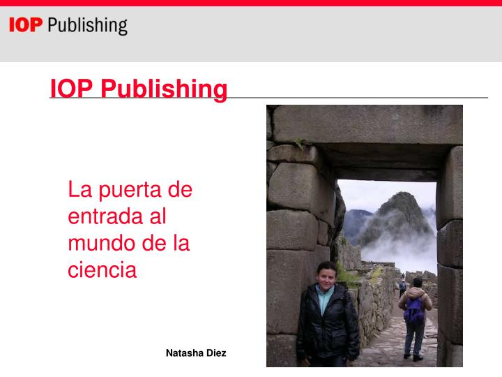 iop publishing n.